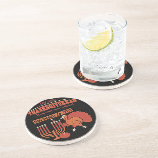 Festive 'Thanksgivukkah' Drink Coaster