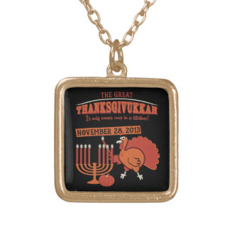 Festive 'Thanksgivukkah' Gold Plated Necklace