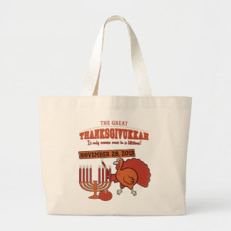 Festive 'Thanksgivukkah' Large Tote Bag