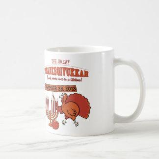 Festive 'Thanksgivukkah' Basic White Mug