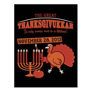 Festive 'Thanksgivukkah' Postcard