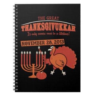 Festive 'Thanksgivukkah' Spiral Note Book