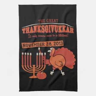 Festive 'Thanksgivukkah' Tea Towel