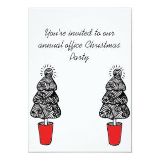 Festive Trees Party Invitation