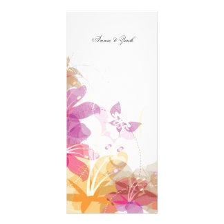 Festive Tropical flowers Full Color Rack Card