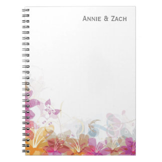 Festive Tropical flowers Spiral Note Book