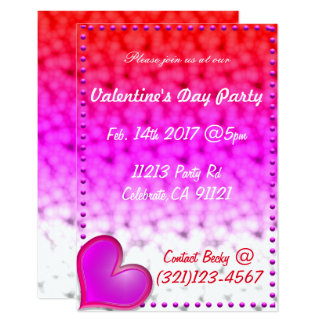 Festive Valentines Day Invitation