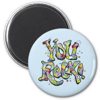 """Festive """"You Rock!"""" Lettering Magnet"""