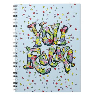 "Festive ""You Rock!"" Lettering Notebook"