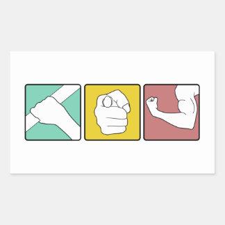 FESTIVUS illustrated Rectangular Sticker