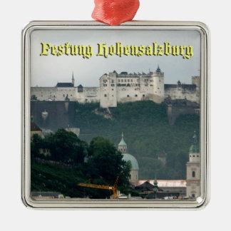 Festung Hohensalzburg, Salzburg Austria Silver-Colored Square Decoration