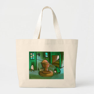FETCHING THE WATER JUMBO TOTE BAG