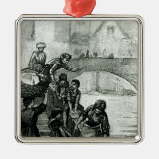Fetching Water from the River Christmas Ornament
