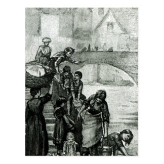 Fetching Water from the River Postcard