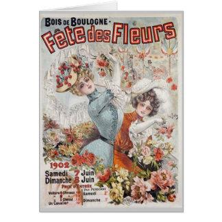 Fete de Fleurs Greeting Card