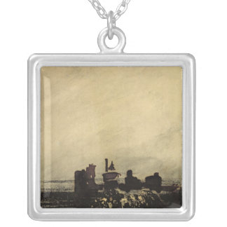 Feudal Ruins Silver Plated Necklace