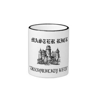 "feudalcastle_1_md, MASTER RICK, ""TRANQUILITY KEEP"" Ringer Coffee Mug"