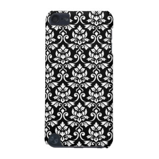 Feuille Damask Pattern White on Black iPod Touch (5th Generation) Cover