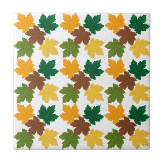 feuilles d'automne patterns small square tile