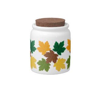 feuilles d'automne  patterns candy jar