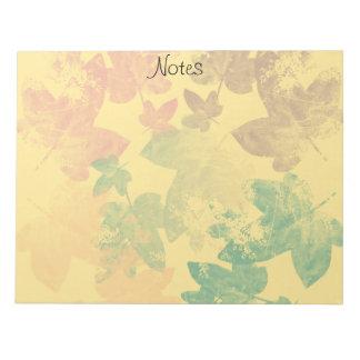 feuilles  d'automnes note pads