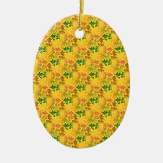 feuilles d'automnes  patterns ceramic oval decoration