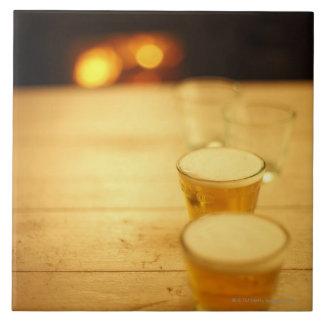 Few glasses of beer tile
