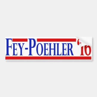Fey / Poehler 2016 Campaign Sticker Bumper Sticker