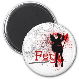Fey White Magnet