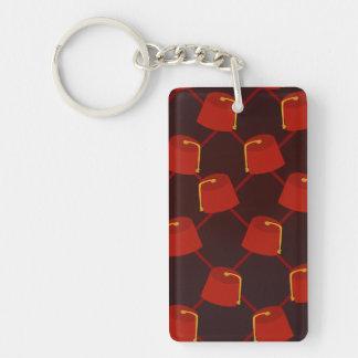 Fez Festival Single-Sided Rectangular Acrylic Key Ring