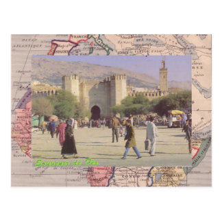Fez, the second largest city of Morocco Postcard