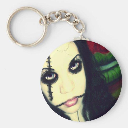 Fezzie Ferocious Keychain: Morbid Doll Basic Round Button Key Ring