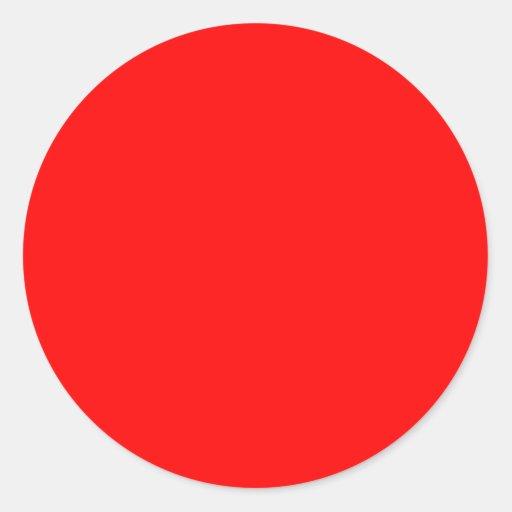 FF0000 Red Sticker