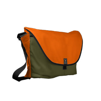 FF6600 Solid Color Orange Background Template Commuter Bags
