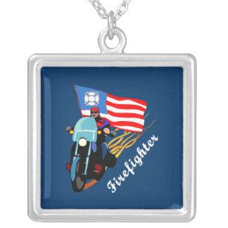 FF Bikers Square Pendant Necklace