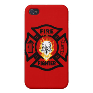 FF Flaming Skull Case For iPhone 4
