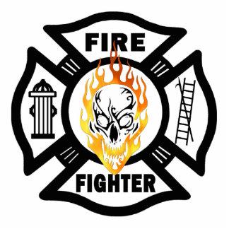 FF Flaming Skull Photo Sculpture Key Ring