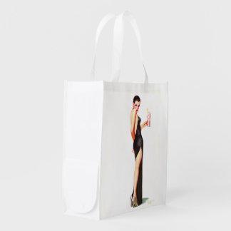 FF Glamour Girl Reusable Shopping Bag