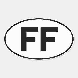 FF Oval Identity Sign Oval Sticker