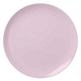 FFCCFF Pale Lilac Pink Lavender Solid Color Party Plate