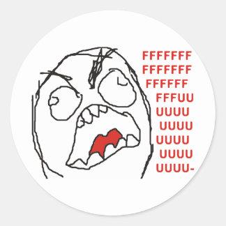 FFFFFFFUUUUUU - Rage! Stickers