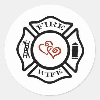 FFFireWife Round Sticker