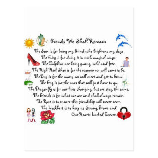 fFriends We Shall Remain Acessories Postcard