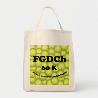 FGDCh 60K Flyball Master Champion 60K Grocery Tote Canvas Bag
