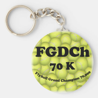 FGDCh 70 K, Flyball Grand Champ, 70,000 Points Basic Round Button Key Ring