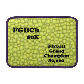 FGDCh 80 K, Flyball Grand Champ, 80,000 Points Sleeve For MacBook Air