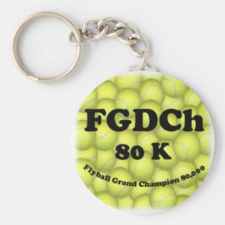 FGDCh 80K Flyball Gnd Champ 80K Button Keychain
