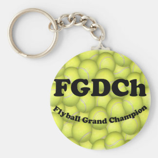 FGDCh, Flyball Grand Champ, 30,000 Points Basic Round Button Key Ring
