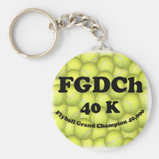 FGDCh, Flyball Grand Champ, 40,000 Points Basic Round Button Key Ring