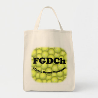 FGDCh, Flyball Grand Champion Grocery Tote Canvas Bags